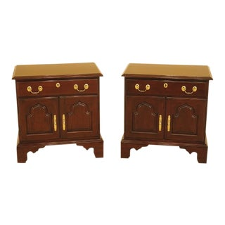 Harden Cherry Nightstands W. Raised Panel Doors - a Pair