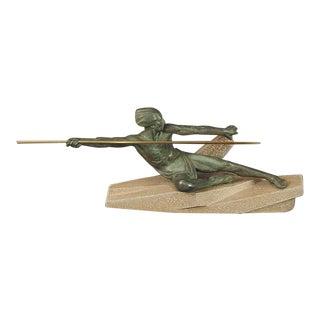 """1930s Vintage Max Le Verrier """"The Ambush"""" Sculpture For Sale"""