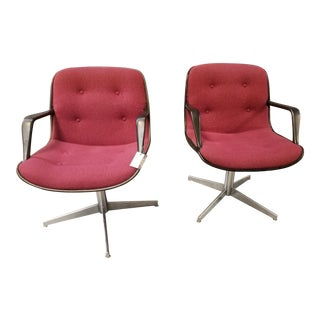 Mid-Century Steelcase Swivel Chairs- a Pair For Sale