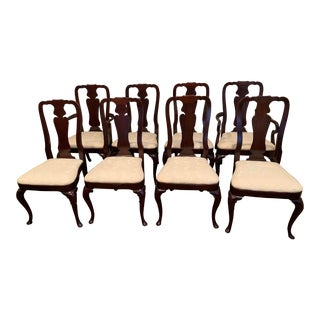 Kindel Queen Ann Chairs - Set of 8 For Sale