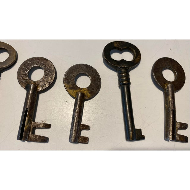 Industrial Antique Early 20th Century Metal Keys - Group of 11 For Sale - Image 3 of 6