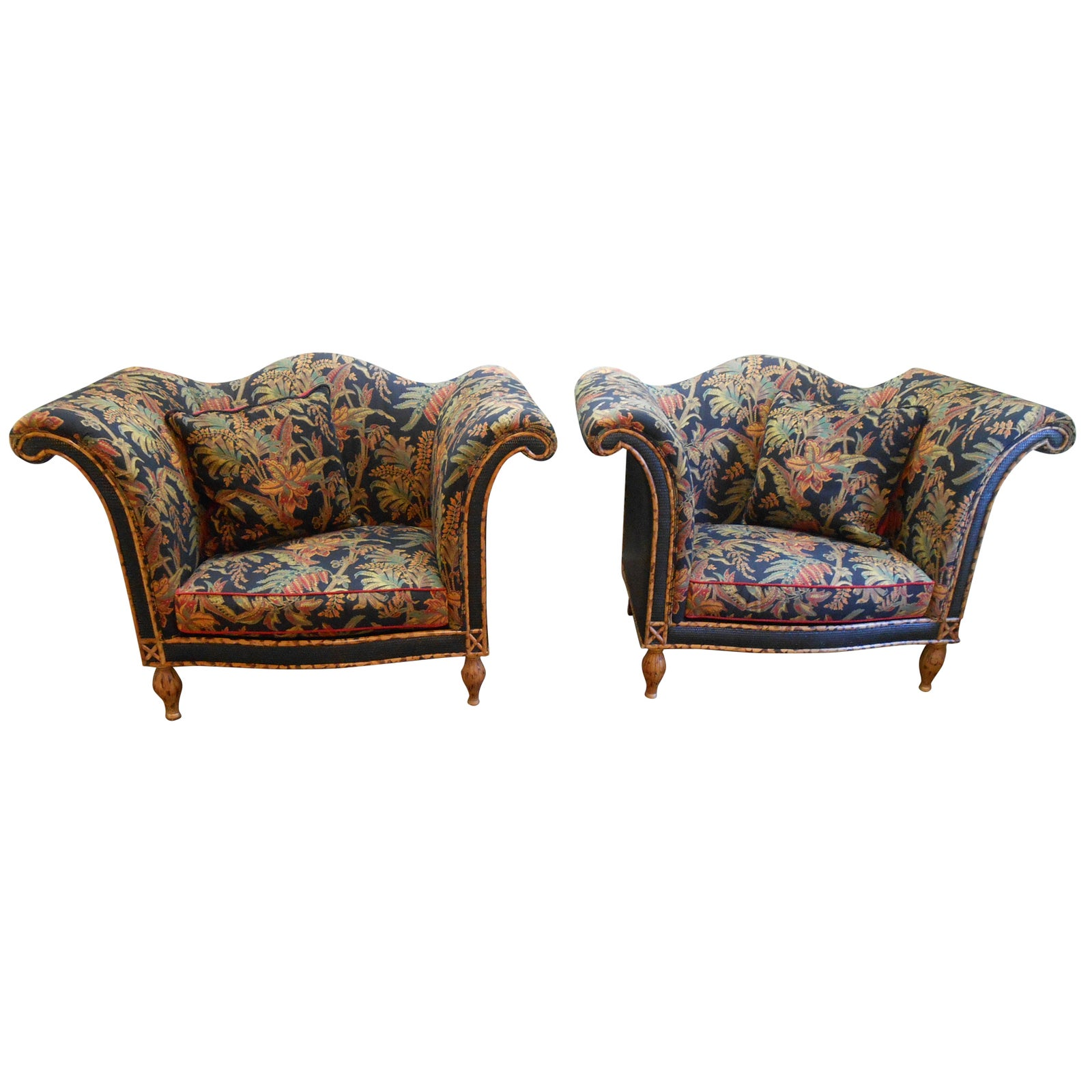 Super Raymond Waites For Lane Rattan Chairs A Pair Caraccident5 Cool Chair Designs And Ideas Caraccident5Info