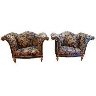 Raymond Waites for Lane Rattan Chairs - A Pair