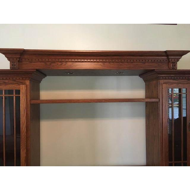 Amish Lighted 5-Piece Wall Unit - Image 9 of 11