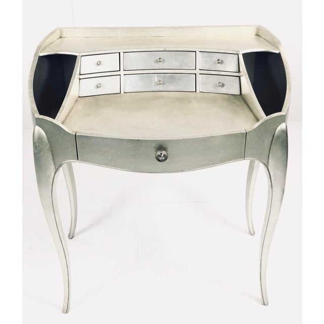 So pretty! Incredible piece, great silverleaf finish with multiple drawers. Petite size or smaller spaces! A must for your...