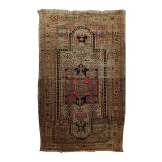 1920s Distressed Caucasian Rug For Sale
