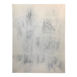 Original Modern White on White Painting For Sale