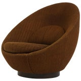 Image of Milo Baughman Swivel Lounge Chair For Sale