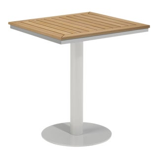 """26"""" Square Outdoor Bistro Table, Natural For Sale"""