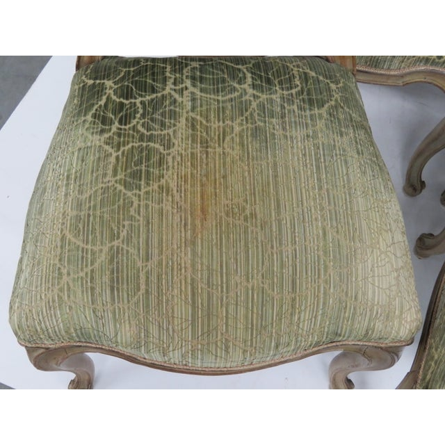 French Distressed Painted Dining Chairs - Set of 6 - Image 3 of 10
