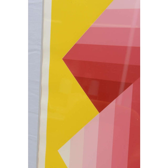 Yellow Gorgeous Serigraph by Herbert Bayer, Austria, 1973 For Sale - Image 8 of 9