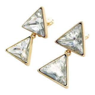 Triangle Dangling Earrings by Kenneth Jay Lane For Sale