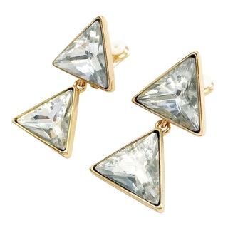 Triangle Dangling Earrings by Kenneth Jay Lane For Sale
