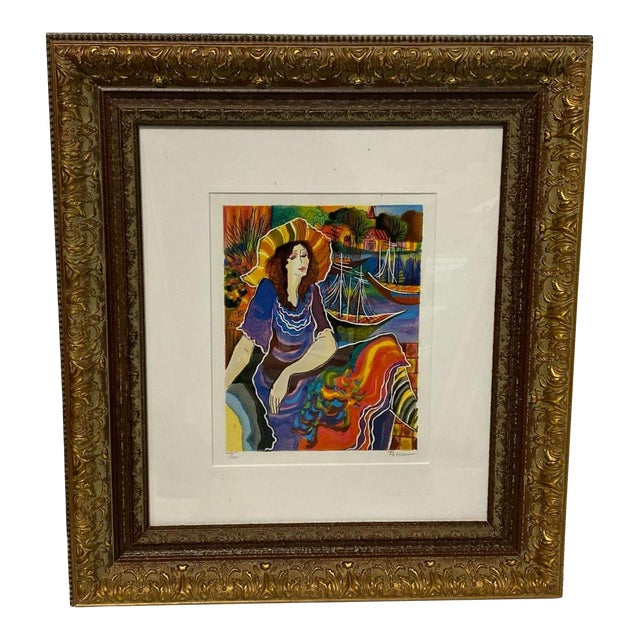 Vintage Signed Patricia Govensky Serigraph in Color For Sale