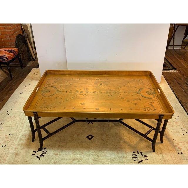 Hollywood Regency Glam Tray Top Gilded Coffee Table For Sale - Image 13 of 13