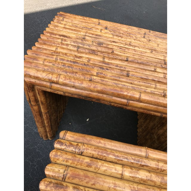 Vintage Bamboo End Tables - A Pair For Sale In Atlanta - Image 6 of 8