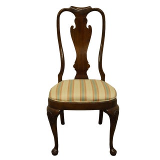 Vintage Drexel Heritage Solid Cherry Traditional Chippendale Style Ball and Claw Side Chair For Sale