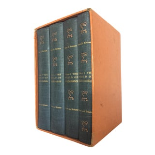 """1950s Vintage """"The World of Mathematics"""" 4 Volume Book Set- 4 Pieces For Sale"""