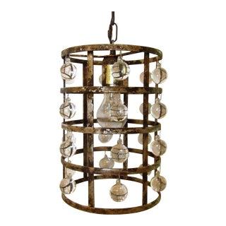 Arhaus La Cage Silver Clay Finish Pendant Lamp