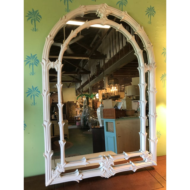Vintage Coastal Regency Fleur De Lis Mirror For Sale - Image 9 of 12
