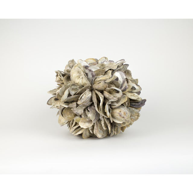 Large Natural Oyster Shell Sphere Sculpture For Sale - Image 10 of 10