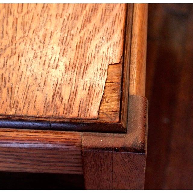 1920s Antique Stickley Desk Table Bookshelves Mission Oak Writing Desk For Sale In New York - Image 6 of 13