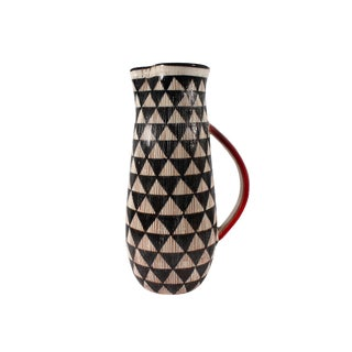 Mid 20th Century Bitossi for Goodfriend Italian Mid-Century Black and White Pitcher For Sale