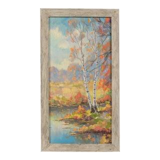 Fall Aspen Tree Landscape by Helio Wernegreen For Sale