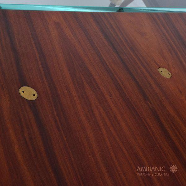 1950s Modernist Rosewood Desk with Mendoza Hardware For Sale - Image 5 of 10