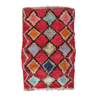 1990s Berber Boucherouite Rug - 3′8″ × 5′8″ For Sale