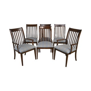 Ethan Allen Impressions Set 6 Cherry Dining Chairs For Sale