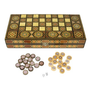 Late 20th Century Inlaid Middle East Games Board For Sale