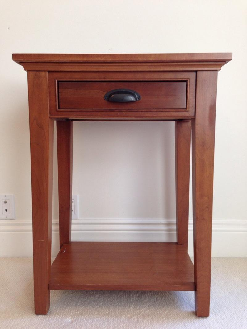 Good Restoration Hardware Cherry Wood End Table   Image 2 Of 6