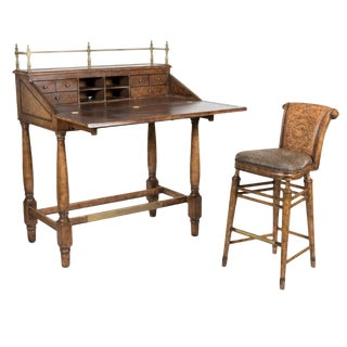 Ernest Hemingway Stand-Up Desk & Stool - a Pair