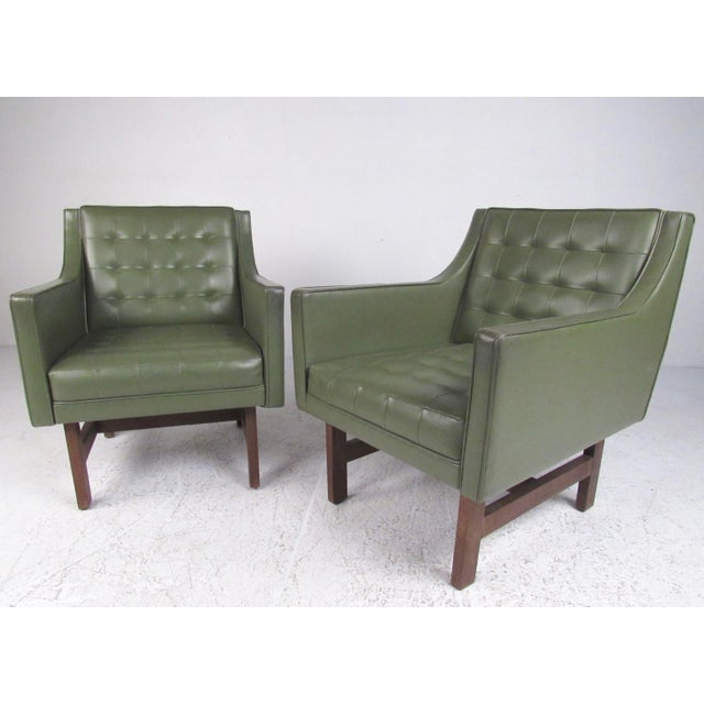 Mid-Century Club Chairs- A Pair For Sale - Image 11 of 12
