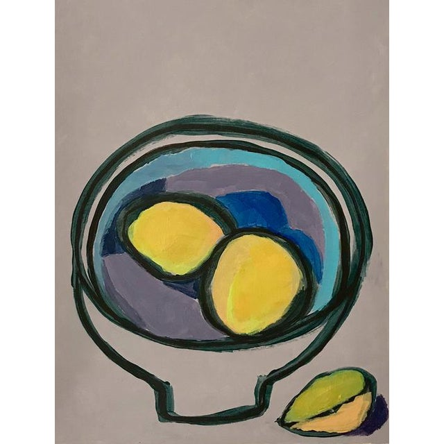 This is an original still life painting on paper by Neicy Frey, one of a collection of abstractions Neicy created while...