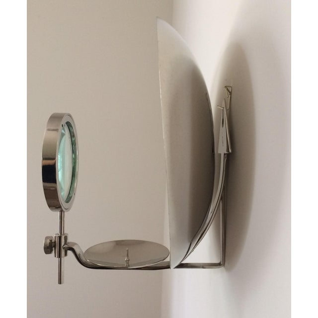 Rare Early 20th Century Parabolic Reflector Candle Holder Wall Sconce For Sale - Image 4 of 9