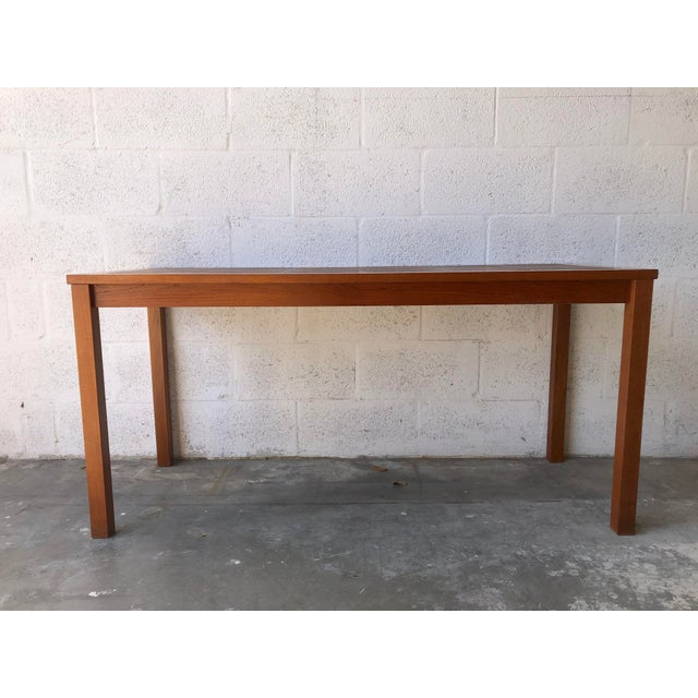 Mid-Century Modern Vintage Mid Century Danish Modern Tile Top Console/ Entry Table For Sale - Image 3 of 13