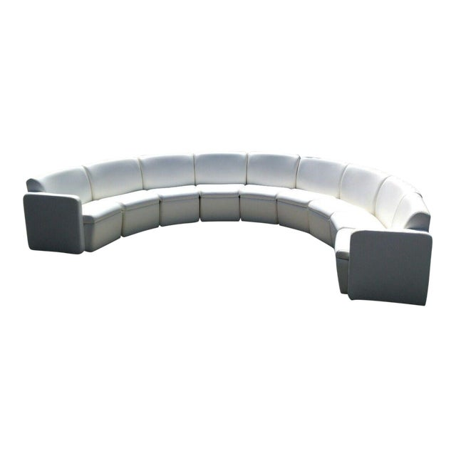 Modern Semi-Circular Modular Sofa Sectional For Sale