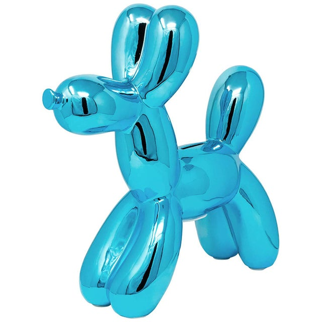 "Interior Illusions Plus Blue Balloon Dog Bank - 12"" Tall For Sale In Los Angeles - Image 6 of 6"