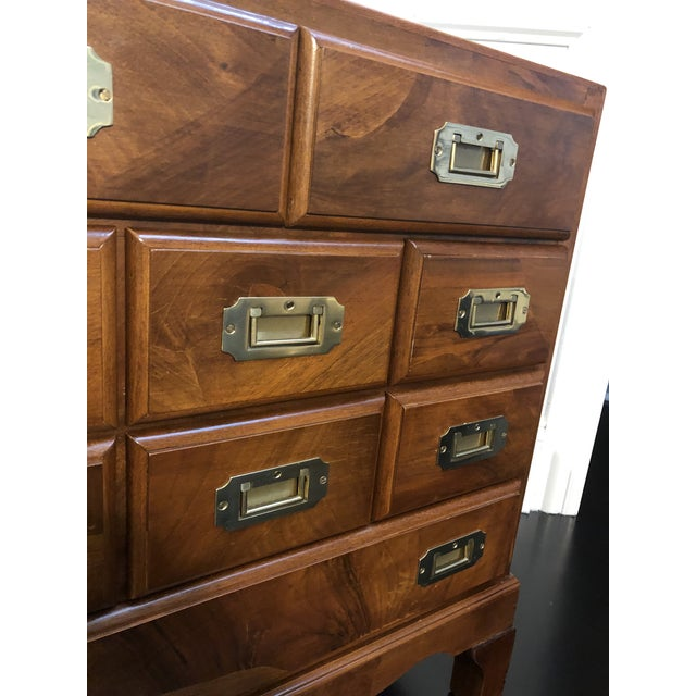 Italian Campaign Style Chest of Drawers For Sale In Chicago - Image 6 of 12
