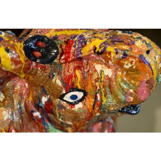 """Abstract Mauro Oliveira """"Playful Baby Elephant"""" Sculpture For Sale - Image 3 of 6"""