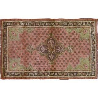 Vintage Turkish Oushak Wool Rug - 4′2″ × 6′9″