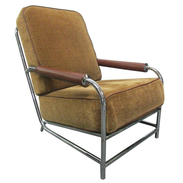 Streamline Chrome Lounge Chair For Sale In New York - Image 6 of 6