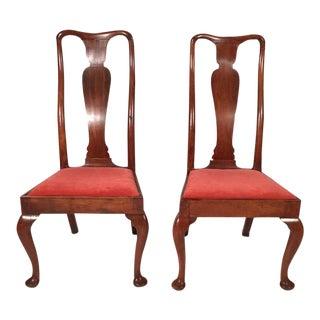 Curved Queen Anne Period Chairs, Circa 1710 - a Pair For Sale