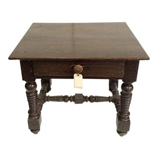 Jacobean Side Table For Sale