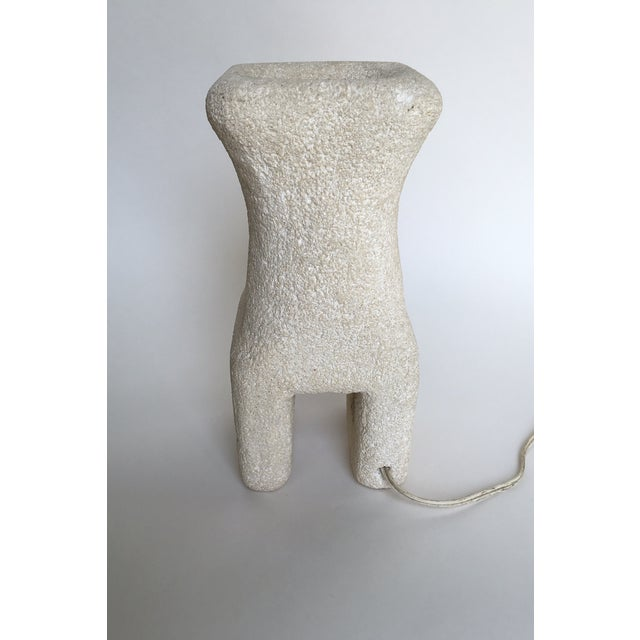 Albert Tormos Vintage Albert Tormos Sculptural Stone Table Lamp For Sale - Image 4 of 8