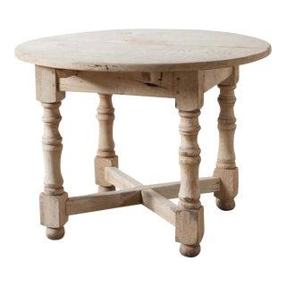 Antique Oak Turned Leg Extension Table For Sale