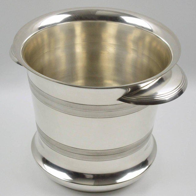 French Art Deco Modernist Silver Plate Champagne Bucket, Wine Cooler - Image 3 of 7