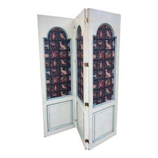 Custom Decorator Solid Mahogany Room Divider or Screen For Sale